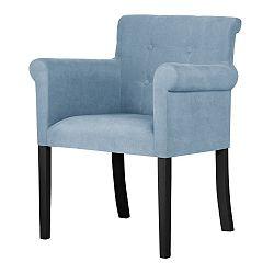 Světle modrá  židle s černými nohami Ted Lapidus Maison Flacon