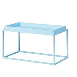 Světle modrý kovový konferenční stolek Intersil Club NY