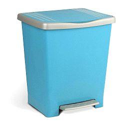 Světle modrý odpadkový koš spedálem Ta-Tay, 15l