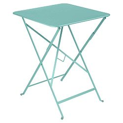 Světle modrý zahradní stolek Fermob Bistro, 57 x 57 cm