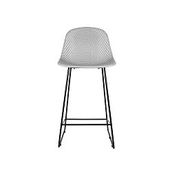 Světle šedá barová židle Leitmotiv Diamond Mesh