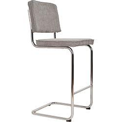 Světle šedá barová židle Zuiver Ridge Rib