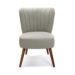 Světle šedá čalouněná židle z umělé kůže Versa Kioto