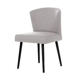 Světle šedá jídelní sčernými nohami židle My Pop Design Richter