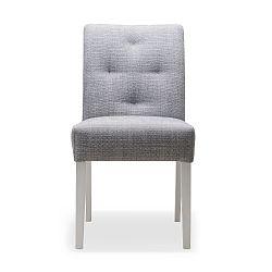 Světle šedá jídelní židle s nohami z dubového dřeva Mossø Gatora