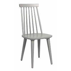 Světle šedá jídelní židle ze dřeva kaučukovníku Folke Lotta
