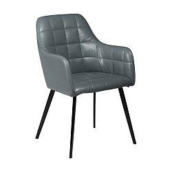 Světle šedá koženková židle DAN-FORM Denmark Embrace