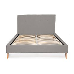 Světle šedá postel Vivonita Kent Linen, 200x180cm