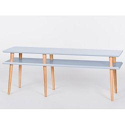 Světle šedý konferenční stolek Ragaba Mugo,délka119cm