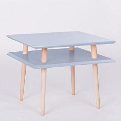 Světle šedý konferenční stolek Ragaba Square, 55x55cm