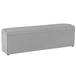 Světle šedý otoman s úložným prostorem Cosmopolitan Design LA, 180x47cm