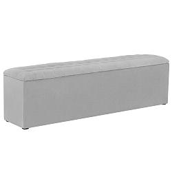 Světle šedý otoman s úložným prostorem Windsor & Co Sofas Nova, 200 x 47 cm