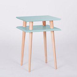 Světle tyrkysový konferenční stolek Ragaba Square, 43x43cm