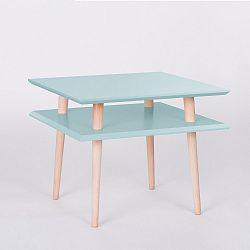 Světle tyrkysový konferenční stolek Ragaba Square, 55x55cm