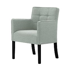 Světle zelená židle s černými nohami Ted Lapidus Maison Freesia