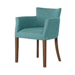 Světle zelená židle s tmavě hnědými nohami Ted Lapidus Maison Santal