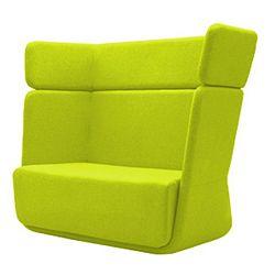 Světle zelené křeslo Softline Basket Felt Lime Punch