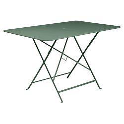 Světle zelený kovový skládací zahradní stolek Fermob Bistro, 117 x 77 cm