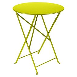Světle zelený zahradní stolek Fermob Bistro, ⌀ 60 cm