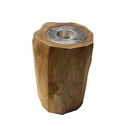 Svícen  z teakového dřeva HSM collection Antique, výška17cm