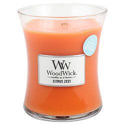 Svíčka s vůní citrusů a květu mandarinky WoodWick, dobahoření60hodin