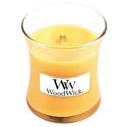Svíčka s vůní citrusů a šampaňského WoodWick Přímořský koktejl, dobahoření20hodin
