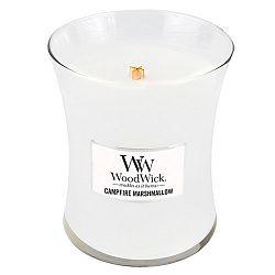 Svíčka s vůní marshmallows WoodWick Pěnové bonbóny na ohni, dobahoření60hodin
