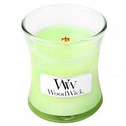 Svíčka s vůní máty, bazalky a růžového dřeva WoodWick, dobahoření20hodin