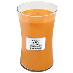 Svíčka s vůní pomeranče WoodWick, dobahoření130hodin