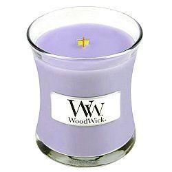 Svíčka s vůní šeříku WoodWick, dobahoření20hodin
