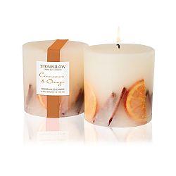 Svíčka s vůní skořice a pomeranče Stoneglow, doba hoření 60 hodin