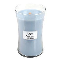 Svíčka s vůní vypraného prádla, jasmínu a růže WoodWick Čisté prádlo, dobahoření130hodin