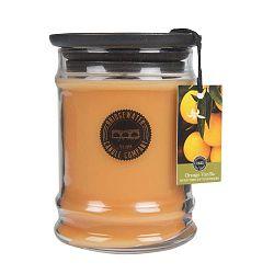 Svíčka ve skleněné dóze s vůní pomeranče a vanilky Creative Tops, doba hoření 65-85 hodin