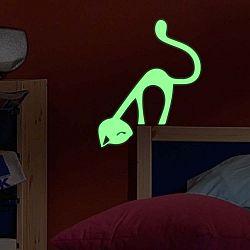 Svítící samolepka Ambiance Cute Cat