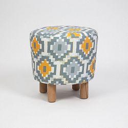 Taburet s dřevěnými nohami Cono Sabado, ⌀41cm