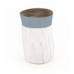 Taburetka z borovicového dřeva Surdic Tronco Azul, ø 30 cm