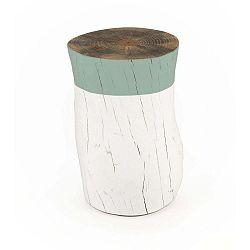 Taburetka z borovicového dřeva Surdic Tronco Verde Jade, ø 30 cm