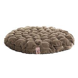 Tmavě béžový sedací polštářek s masážními míčky Lindy Vrňáková Bloom, Ø75cm