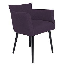 Tmavě fialová židle s područkami Windsor & Co Sofas Gemini