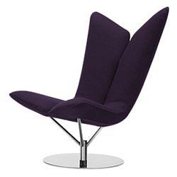 Tmavě fialové křeslo Softline Angel Eco Cotton Dark Lilac