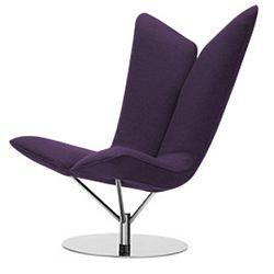 Tmavě fialové křeslo Softline Angel Eco Cotton Lilac