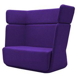 Tmavě fialové křeslo Softline Basket Felt Dark Lilac