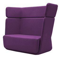 Tmavě fialové křeslo Softline Basket Vision Purple