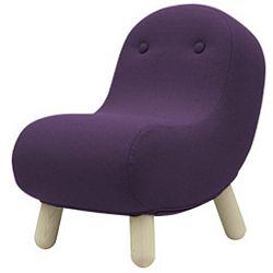 Tmavě fialové křeslo Softline Bob Eco Cotton Lilac