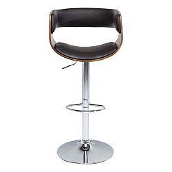 Tmavě hnědá barová stolička Kare Design Costa