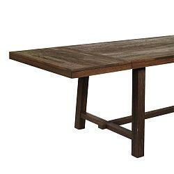 Tmavě hnědá dubová přídavná deska jídelního stolu Folke Brooklyn