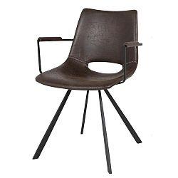 Tmavě hnědá jídelní židle Canett Coronas