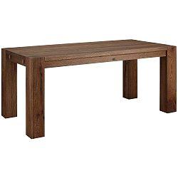 Tmavě hnědý jídelní stůl z masivního dubového dřeva Støraa Matrix, 90x180cm