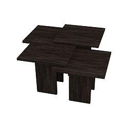 Tmavě hnědý konferenční stolek Homitis Grade