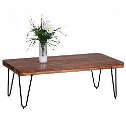 Tmavě hnědý konferenční stůl z masivního sheeshamového dřeva Skyport BAGLI